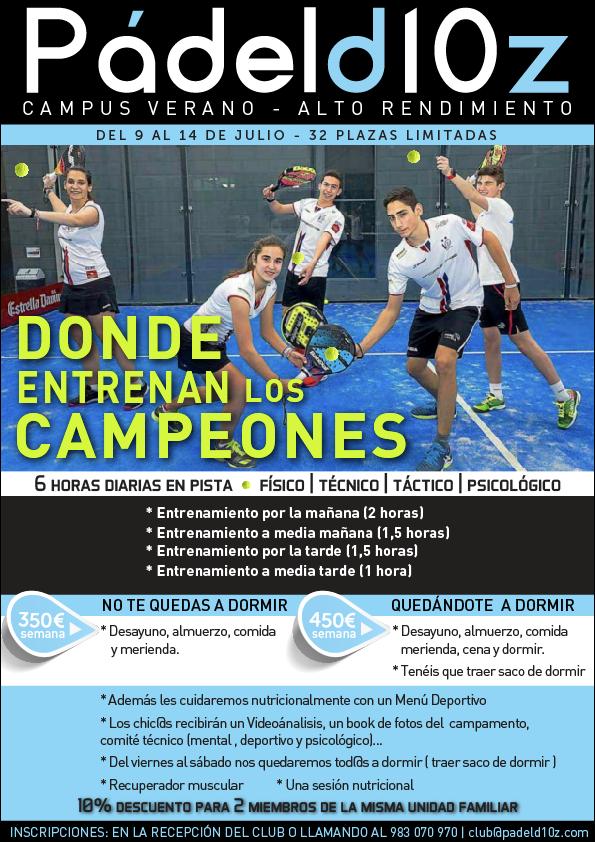 Padeld10z-Campus-Verano-Alto-Rendimiento
